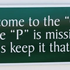 Funny pool sign: Welcome to the ool, the P is missing, let's keep it that way